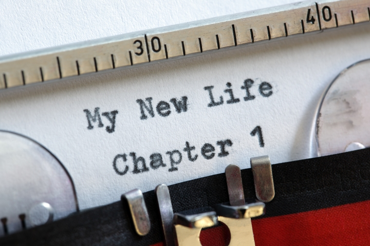 My new life chapter one concept for fresh start, new year resolu